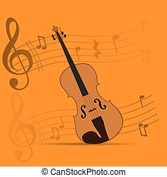 Musical instrument - String instrument, Isolated violin,...