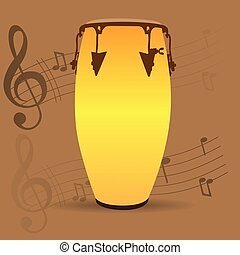 Musical instrument - Percussion instrument, Isolated bongo...