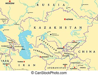 Caucasus and Central Asia Political - Caucasus and Central...