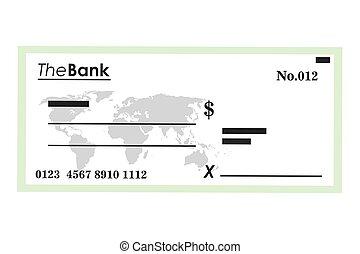 bank check icon