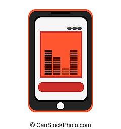 smartphone bars sound icon
