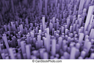 Abstract macro city - 3D illustration of abstract macro...