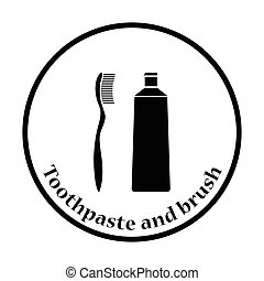 Toothpaste and brush icon