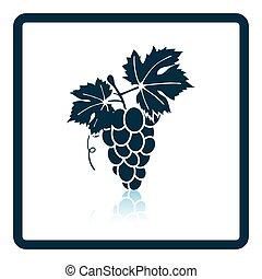 Icon of Grape. Shadow reflection design. Vector...