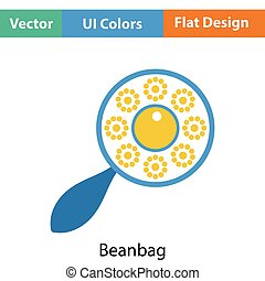 Beanbag icon. Flat color design. Vector illustration.