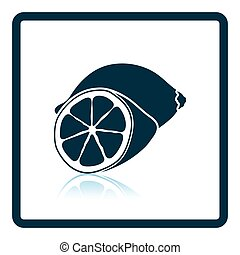 Icon of Lemon Shadow reflection design Vector illustration...