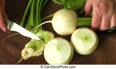 Japanese radish - Tasty fresh crude white round japanese...
