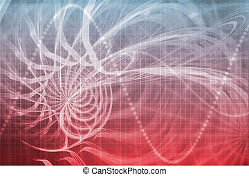 Alien Portal Abstract Background