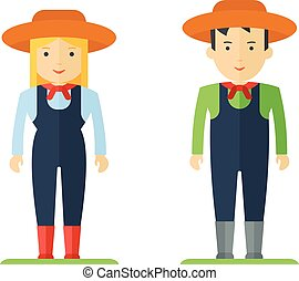 profession farmer man and woman
