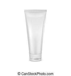 White tube mock-up for cream. Vector EPS10 illustration.