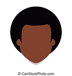 Afro people person icon avatar man