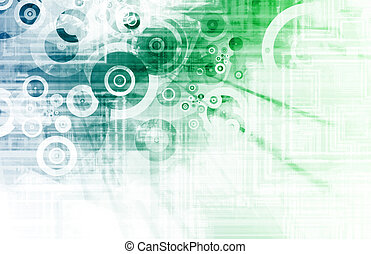 Blue Techno Grunge Background