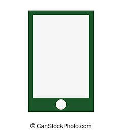 smartphone green screen flat icon isolated vector...
