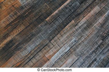Redwood wall - Weathered redwood panels wall with some black...