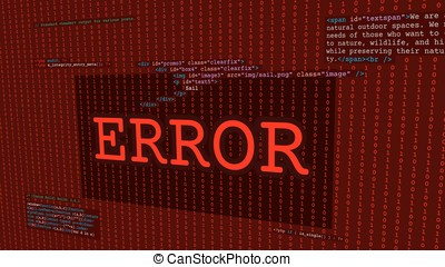 Web error screen