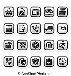 shop and E-commerce icons