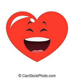laughing heart cartoon icon