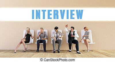 Business Interview Being Discussed in a Group Meeting