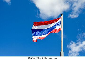 The flag of Thailand Thong Trairong, meaning tricolour...