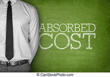 Absorbed cost text on blackboard - Accounting concept on...
