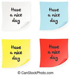 Stick note have a nice day