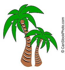 Palm Trees - Illustration of two palm trees.