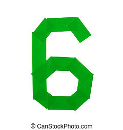 Number six symbol made of insulating tape isolated over the...