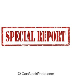 Special Report-stamp - Grunge rubber stamp with text Special...
