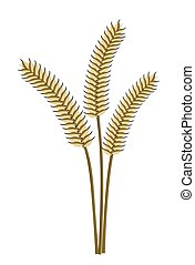 Wheat Ears - Illustration of three wheat ears