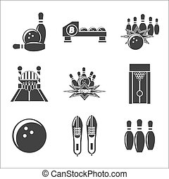 bowling icon set - Bowling icon set. Vector illustration,...