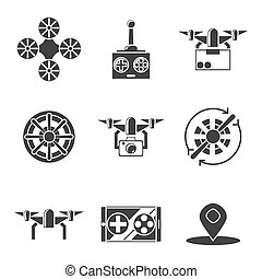 quadrocopter icons set - Quadrocopter icons set Vector...