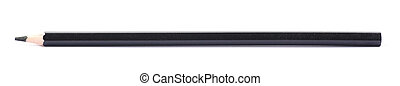 Drawing pencil isolated - Single black drawing pencil...
