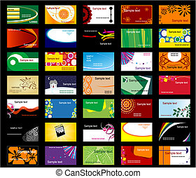 Set of various business cards for design