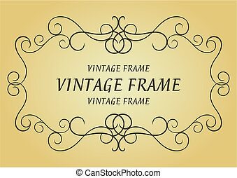 Swirl vintage frame for design as a background