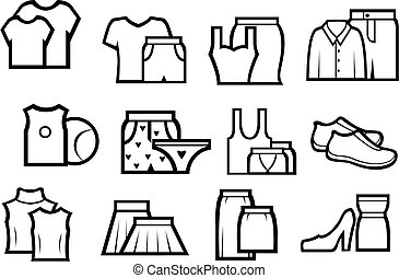 Set of people cloth elements for design
