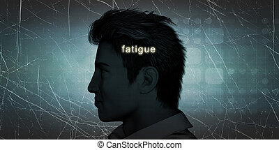 Man Experiencing Fatigue as a Personal Challenge Concept