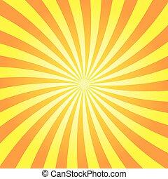 Yellow orange rays poster star burst