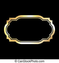 Gold frame Beautiful simple