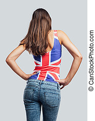 Beautiful teenager back view - Beautiful teenager girl back...