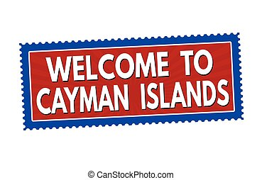 Welcome to Cayman Islands sticker or stamp - Welcome to...