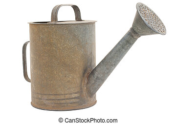 Old watering can - Old metal watering can, a classic design....