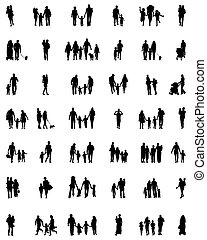 silhouettes of families