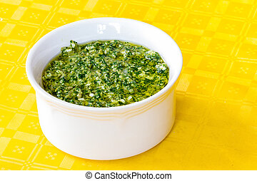 Green sauce for boiled meat