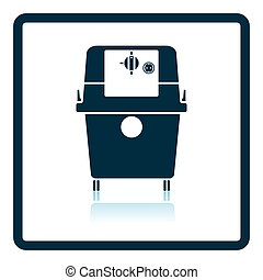 Icon of vacuum cleaner Shadow reflection design Vector...