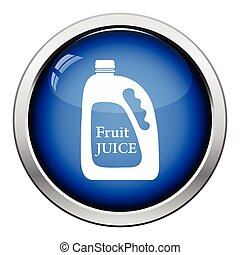 Fruit juice canister icon Glossy button design Vector...