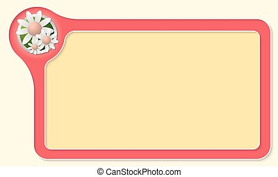 Vector frame for your text and flowers