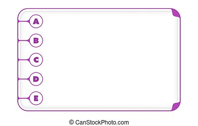 Simple purple boxes to fill your text and letters