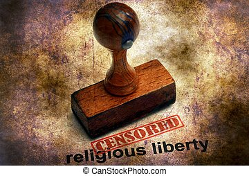 Censored stamp on religious liberty