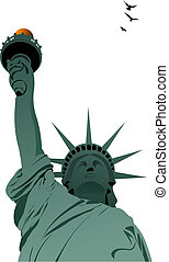 Statue of Liberty in New York. Vec