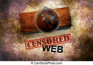 Censored stamp on web